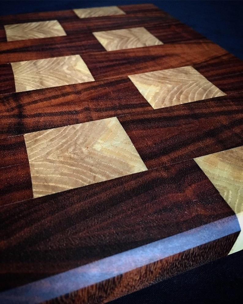 Tigerwood and Ash cutting board  cheese board.