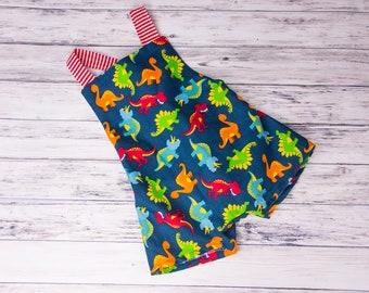 b74dda2f88a2 Navy Baby Boy Dinosaur Romper- Dinosaur Romper