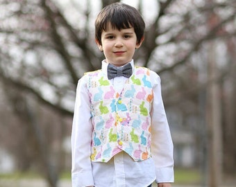 ea8c617f6f07 Easter Bunny Vest- boys Easter outfit, Bunny vest, Easter bunny vest,  toddler vest, boys vest, Easter vest, pastel easter outfit