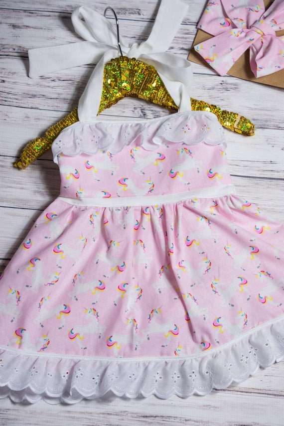 save up to 60% special section really comfortable Pink Unicorn Halter Dress, baby girl unicorn dress, unicorn outfit, unicorn  party outfit, unicorn party dress, unicorn birthday party