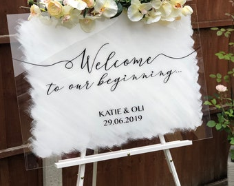 Perspex Welcome Wedding Sign / Wedding Sign / Acrylic Wedding Sign / Welcome Sign / Painted Sign / Perspex Sign
