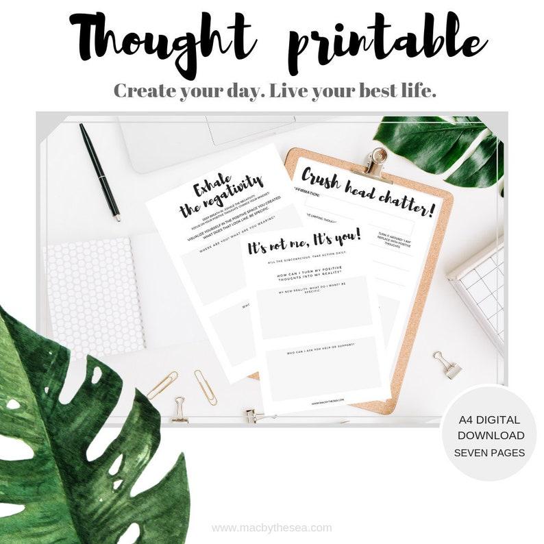 Personal Development Worksheets, Life Goal Printable Mental Health  Worksheet Positivity Journal, Affirmation printable,