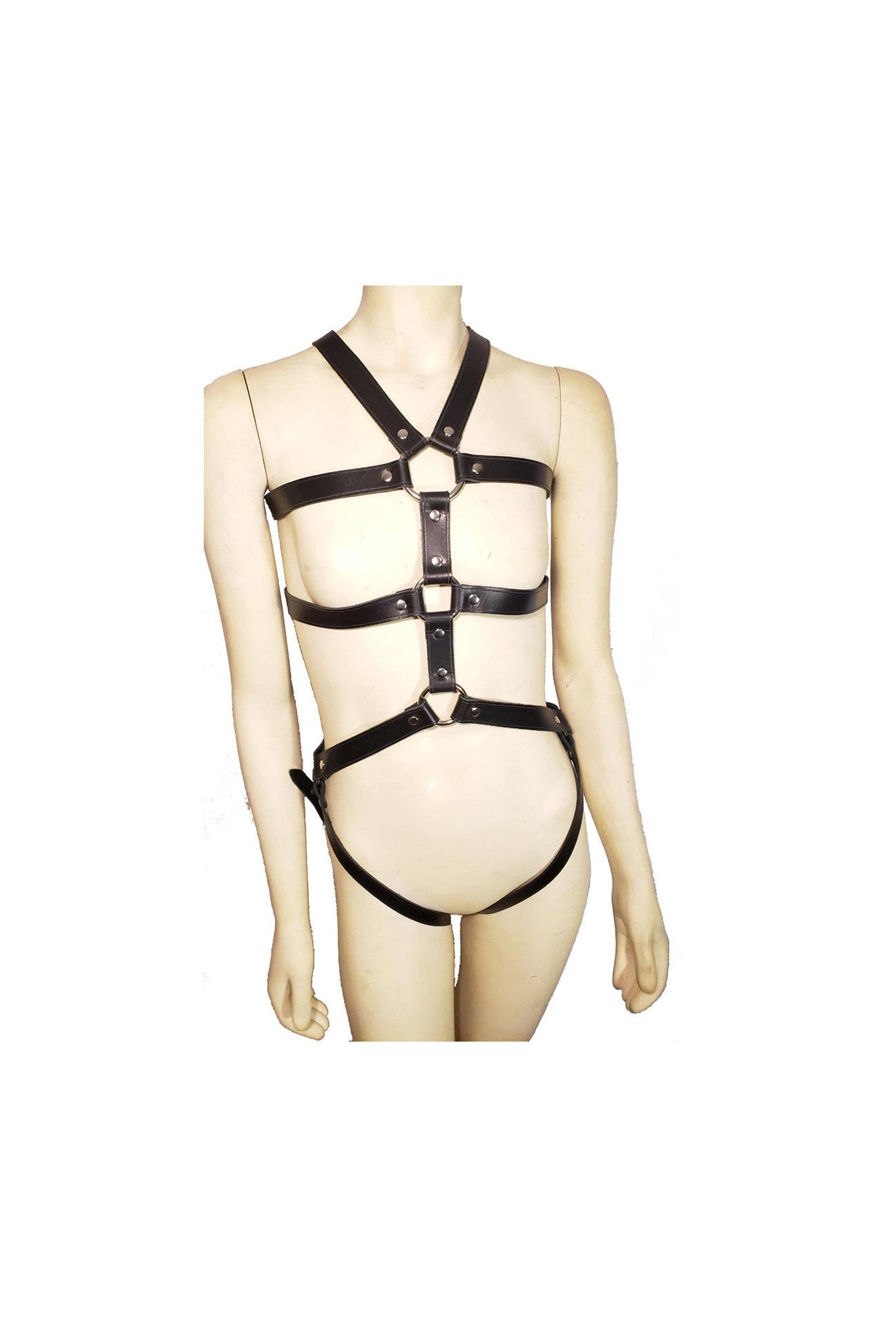 Man/'s Handmade Genuine Leather Full Body Harness