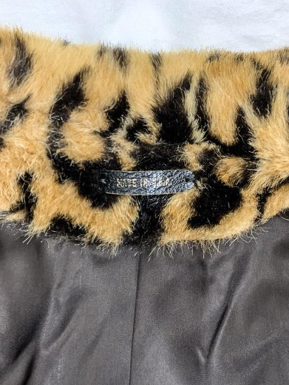 Vintage Leopard Print Coat, Vintage Faux Fur Leop… - image 8