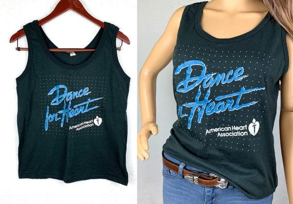 80s Dance for Heart Tank Top, 80s Women's Graphic