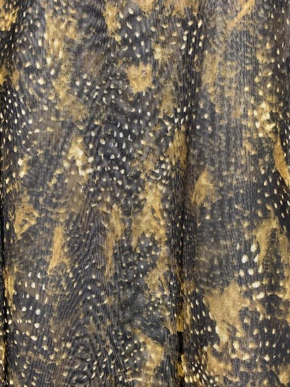 90s Mesh Snakeskin Printed Shirt, 90s Fishnet Shi… - image 6