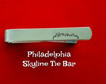Atlanta Skyline Tie Clip Wood Groomsman Gifts and Personalized Wedding Gifts Gift For Him