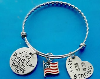 My Heart Belongs to a Marine Bangle Bracelet - Expandable