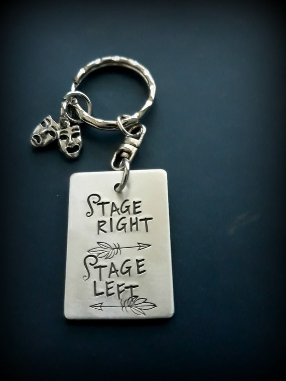 THESPIAN THEATRE ACTOR ACTING STAGE PLAY MUSICAL Keyring Keychain Key Gift