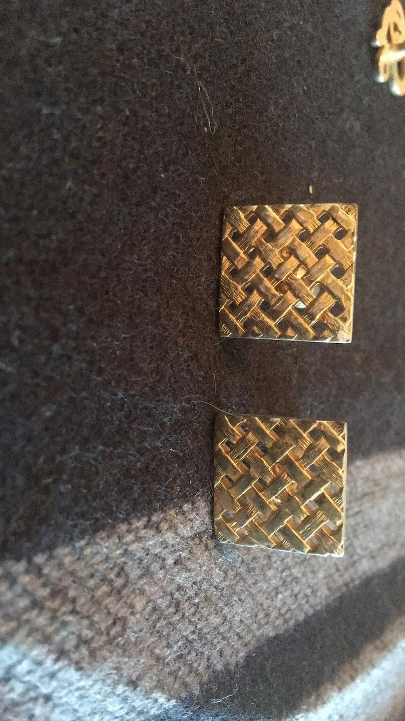 Vintage cuff links set of 3