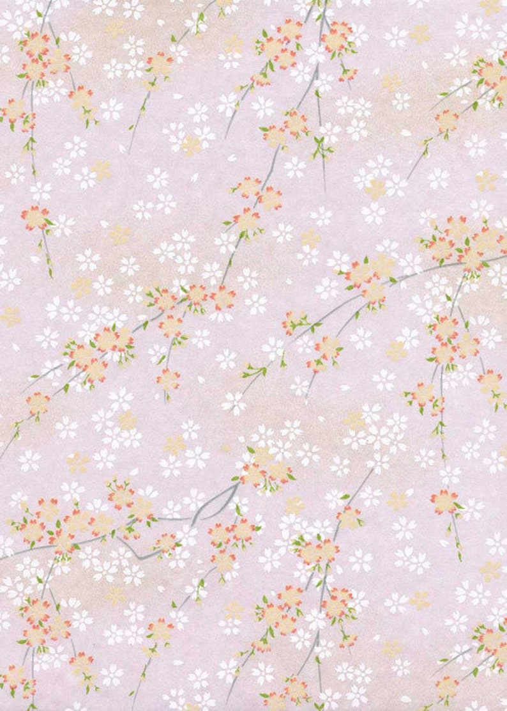 Silkscreened Kozo Paper Japanese Paper Yuzen Chiyogami Paper 9 x 12 CHY809