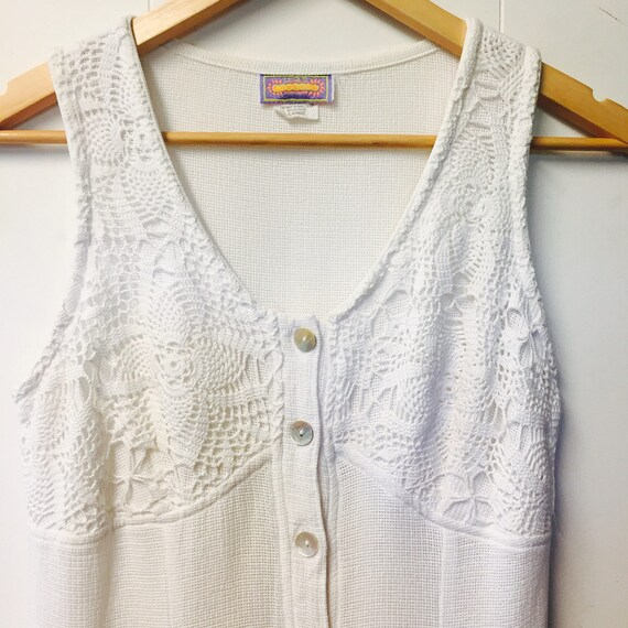 Australian made 90's white summer dress