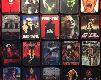 Horror Patches #'s, A-M Iron On!