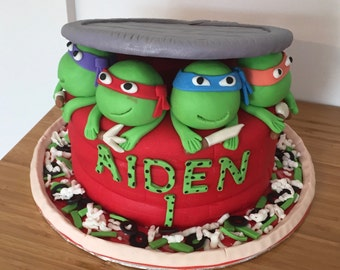 Ninja Turtles (TMNT) Cake Toppers