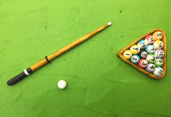 Pool CueBall Cake Decorations Etsy Awesome Pool Ball Decorations