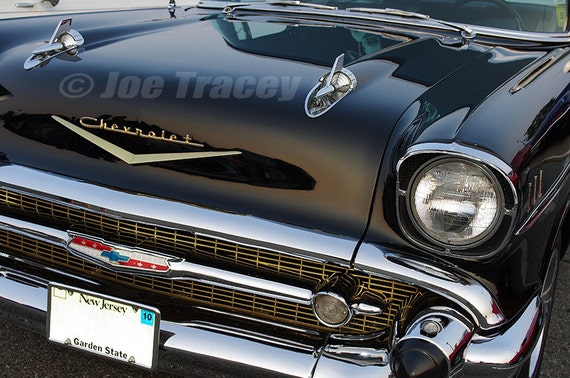 Old Chevy Cars >> 1957 Black Chevrolet Classic Cars Automotive Decor Automobile Photography Wall Art Old Cars Car Pictures Car Art Chevy Chevrolet