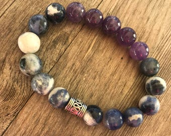 Amethyst Soadalite bracelet