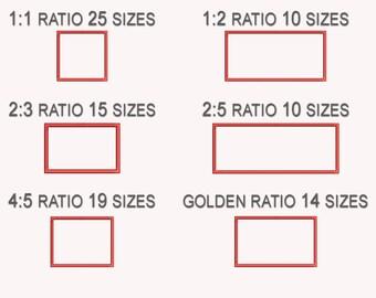 Rectangle Applique Machine  Embroidery Design, Basic Shape DIGITAL INSTANT DOWNLOAD 400