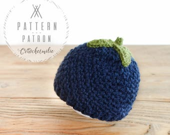 CROCHET PATTERN #022---Little Blueberry head (baby and kid sizes)