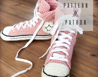6e32bfcf78b6b8 CROCHET PATTERN  001--- Cool crochet slippers instant download