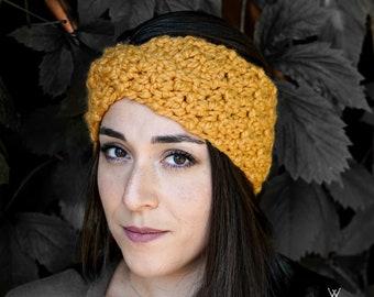 The twisted headband - Crochet Chunky Ear warmer - winter fall spring accessory - for women - gift idea - vintage - knit headband - wool