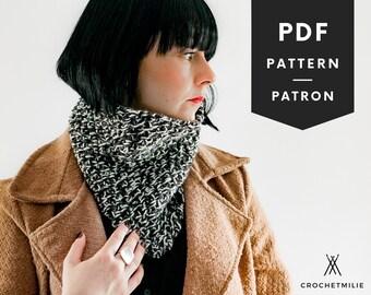 CROCHET cowl PATTERN | Cozy neck warmer for all family | Pdf English or French | easy crochet pattern | bandana pattern | scarf pattern
