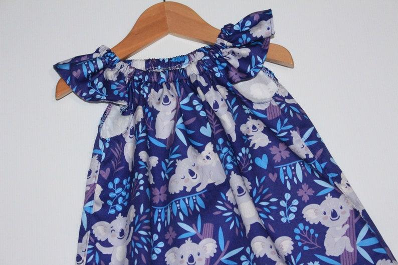 australian animal Handmade Girls Dress Koala Size 2 australiana handmade dress girls dress 2 year old clothing australia