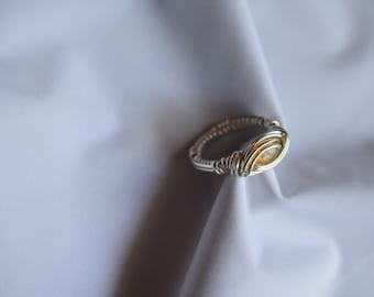 Opal Wire Wrap Ring