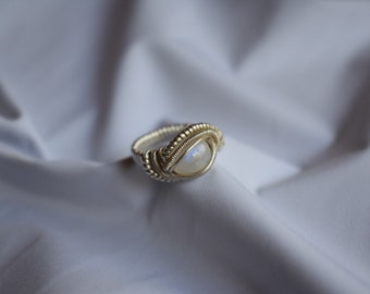 Moonstone Wire Wrap Ring