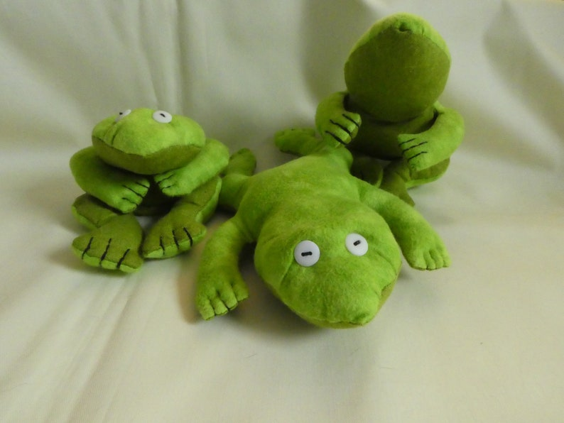Frog quilted and stuffed with Rice