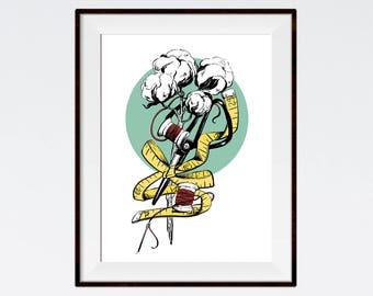 Cotton, Instant Download, Digital Download, Poster, studio wall art