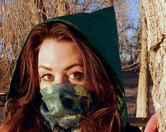 Green Chrome Reversible Hood