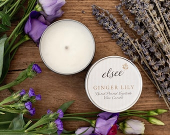 Ginger Lily Hand Poured Vegetable Wax Candle
