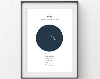 Aries Constellation Printable Art