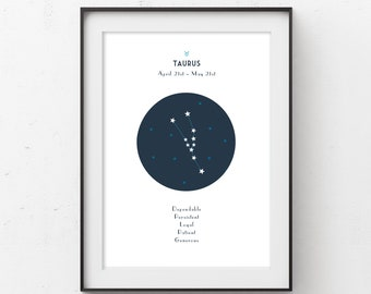 Taurus Zodiac Constellation Printable