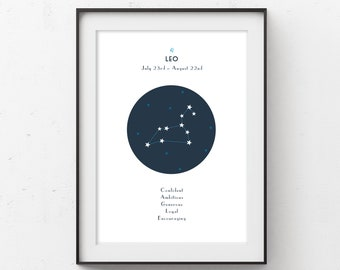 Leo Zodiac Constellation Printable