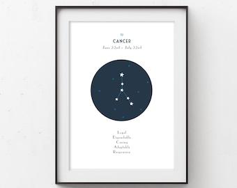 Cancer Zodiac Constellation Printable