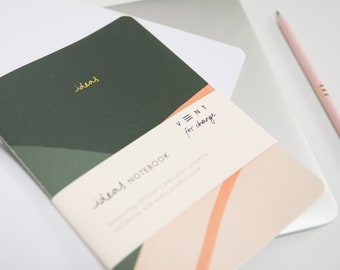 Green Recycled Idea's Soft Cover Notebook