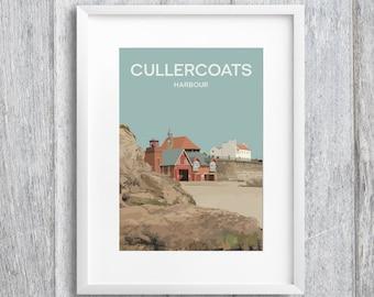 Cullercoats Harbour Art Print