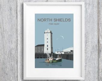North Shields Fish Quay Art Print