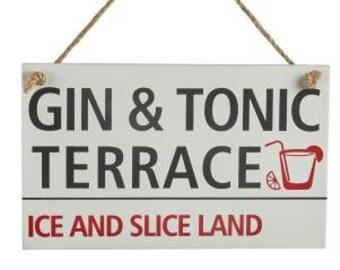 Gin & Tonic Terrace Sign