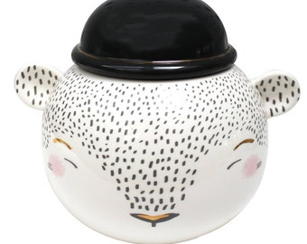 Over The Moon Bowler Bear Cookie Jar