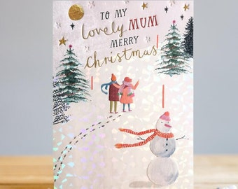 Lovely Mum Christmas Card