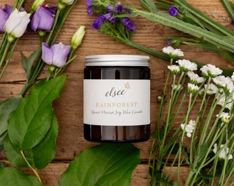 Rainforest Hand Poured Soy Wax Candle