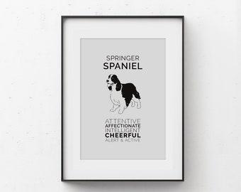 Springer Spaniel Art Digital Download