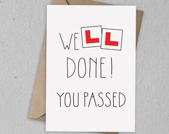 Well Done You've Passed Greetings Card