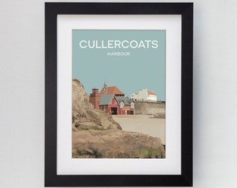 Cullercoats Framed A5 size Art Print
