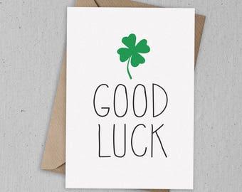 Good Luck Greetings Card