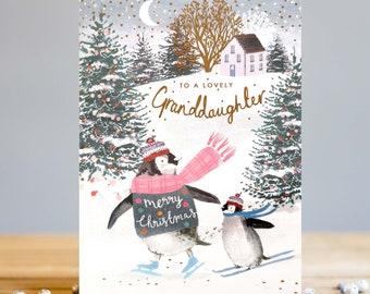 Lovely Granddaughter Christmas Card