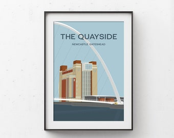 The Quayside Newcastle Gateshead Art Print (Day Version)